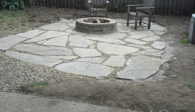 Stone Patio & Fire Pit